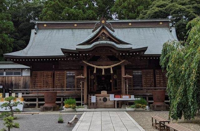 吉田神社の拝殿 参拝してきた 茨城県水戸市