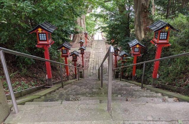 茨城県水戸市 吉田神社 正面 階段 参道