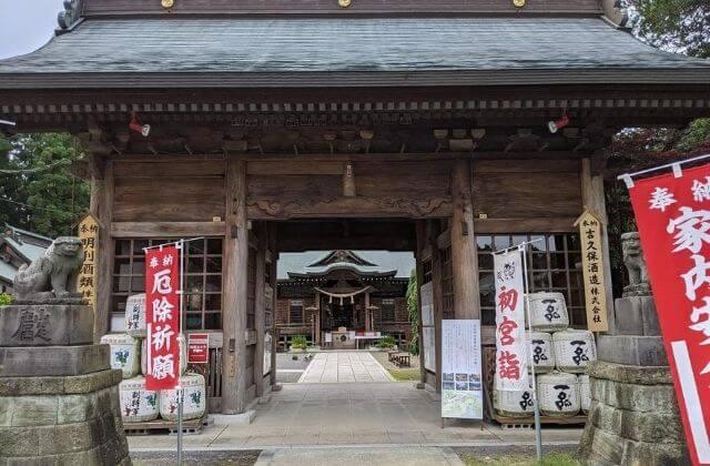 吉田神社 随神門 水戸市