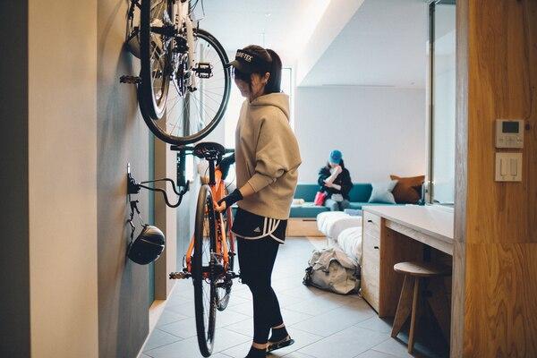 星野リゾートBEB5土浦 サイクルルーム ホテル 自転車持ち込み プレイアトレ土浦