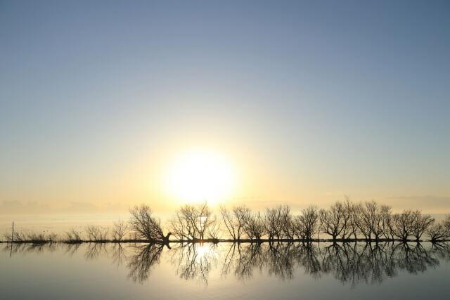 茨城 サイクリング 霞ヶ浦サイクリングロード 朝の湖
