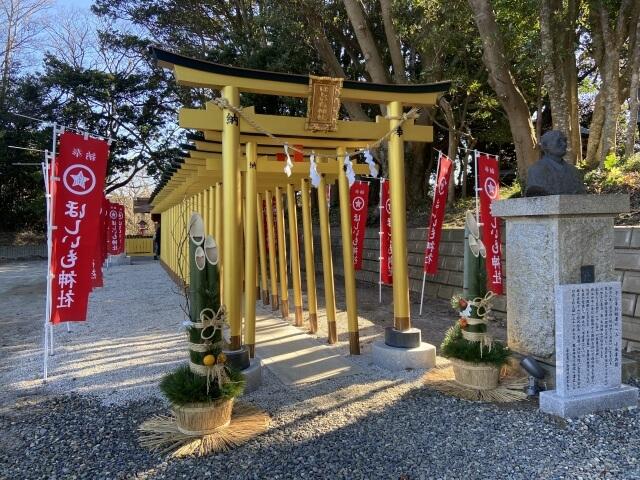 ほしいも神社 黄金の鳥居 石像 ひたちなか市