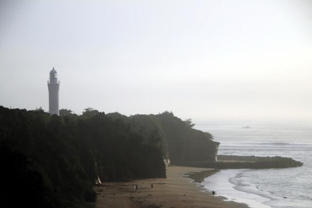 久慈浜海水浴場 日立灯台 日立市 浜辺