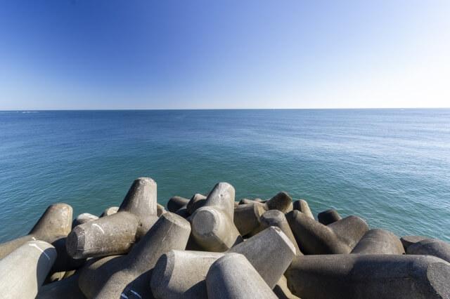 久慈浜海水浴場 釣り 漁港 テトラポット