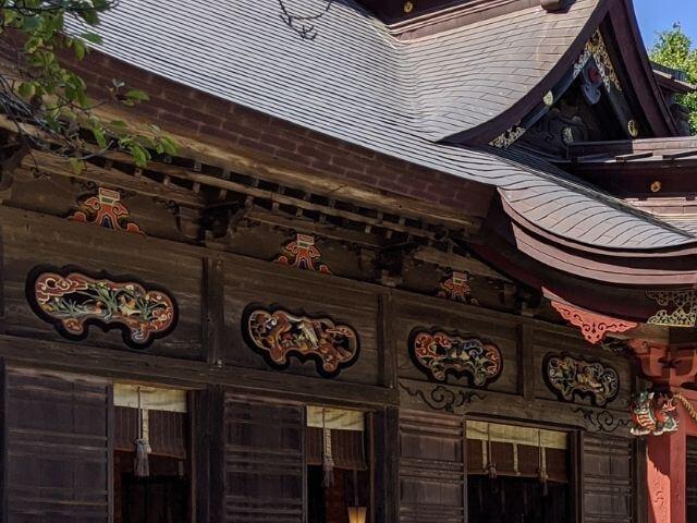 大洗磯前神社 拝殿 装飾