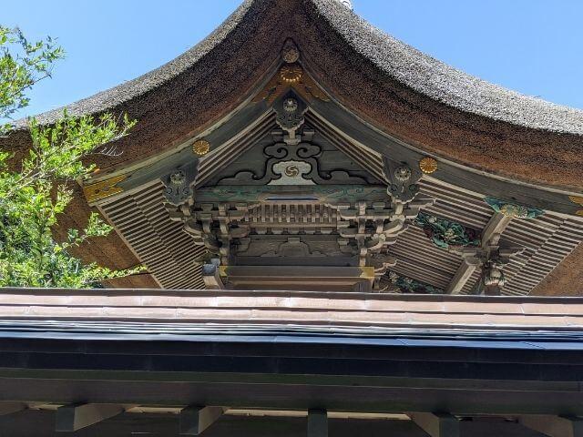 大洗磯前神社 本殿 屋根 装飾