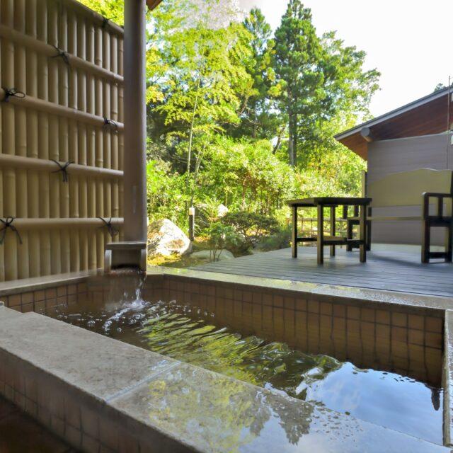 北茨城 温泉 日帰り うぐいす谷温泉竹の葉の客室露天風呂